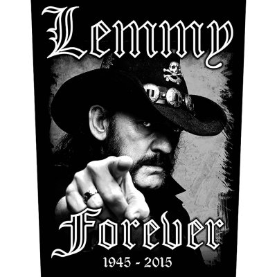 "Lemmy Kilmister Backpatch ""Forever"" schwarz weiß"