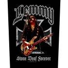 "Lemmy Kilmister Backpatch ""Stone deaf"" schwarz bunt"