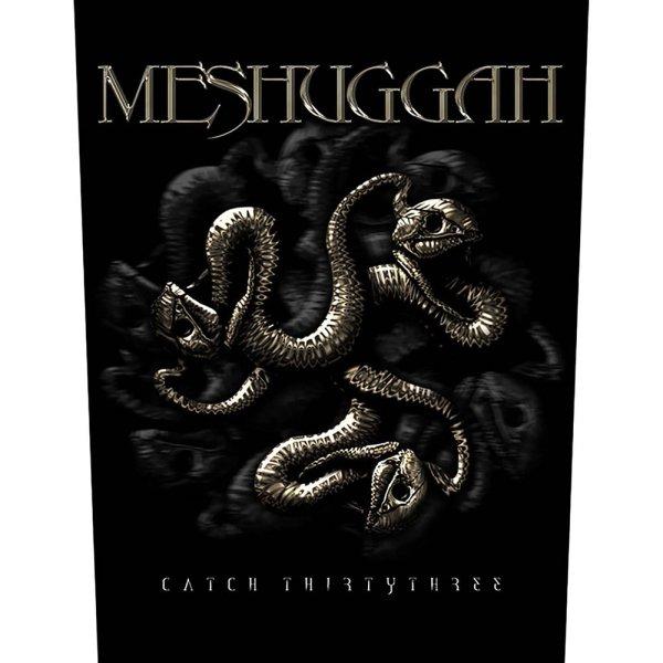 "Meshuggah Backpatch ""Catch 33"" schwarz gold"