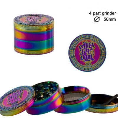 Grinder Grace Glass Amsterdam  Rainbow 4Part Ø 50mm