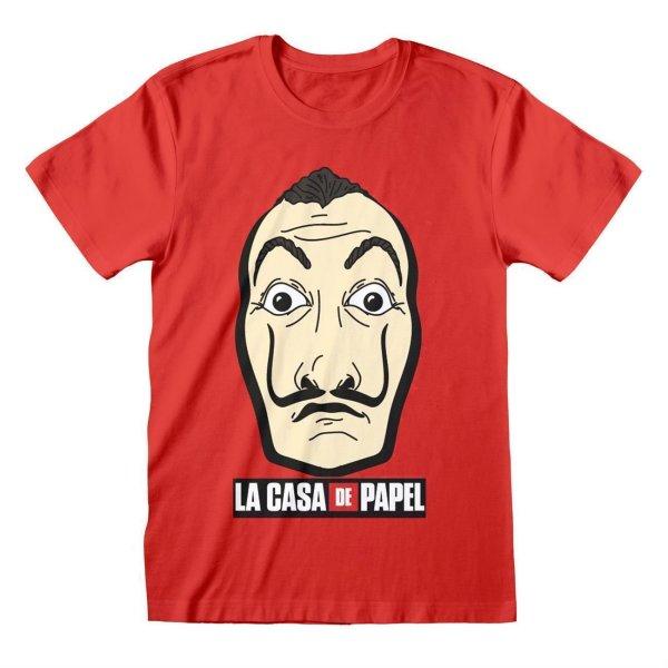 La Casa de Papel - Mask And Logo rundhals T-Shirt Lizenzware Regular Fit