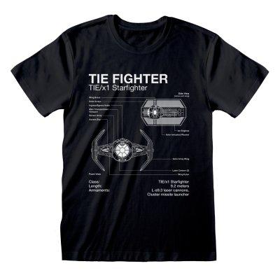 Star Wars - Tie Fighter Sletch T Shirt