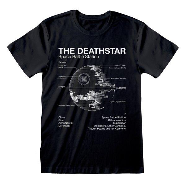 Star Wars - Death Star Sletch T Shirtt