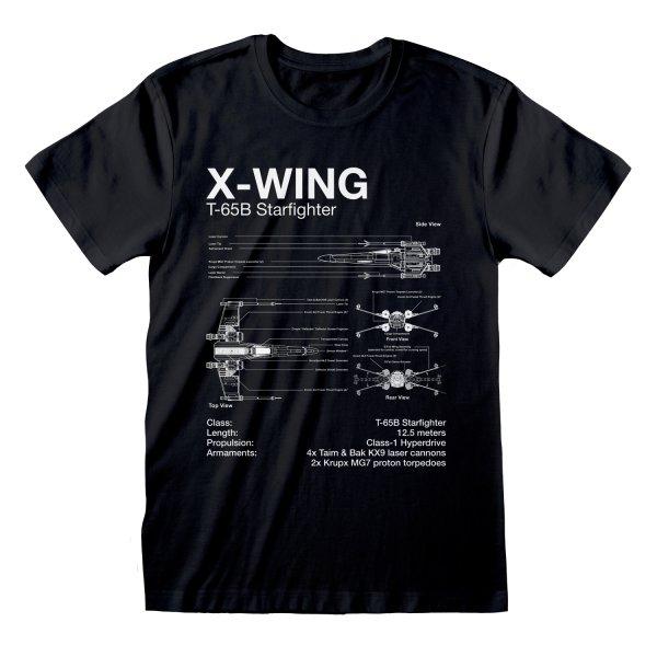 Star Wars - X Wing Sletch rundhals T Shirt Lizenzware Regular Fit