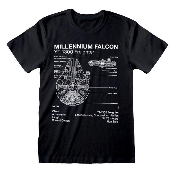 Star Wars Millenium Falcon Sletch T Shirt