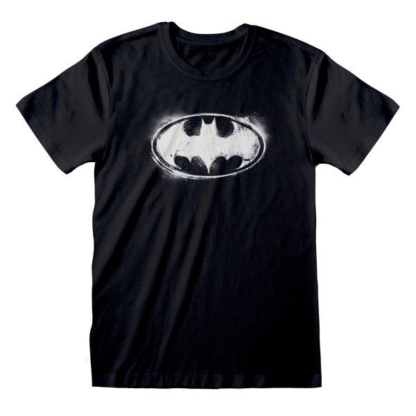 Batman Distressed Logo T Shirt