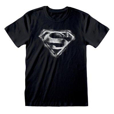 DC Superman – Distressed Logo T Shirt