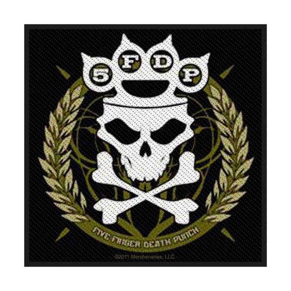 Five Finger Death Punch Knuckle Crown Standard Patch offiziell lizensierte Ware