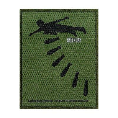 Green Day Bombs Standard Patch offiziell lizensierte Ware