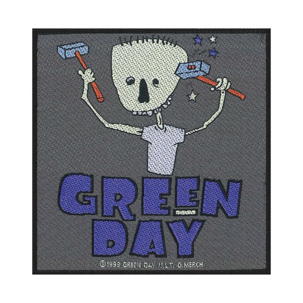 Green Day Hammer Face Standard Patch offiziell lizensierte Ware