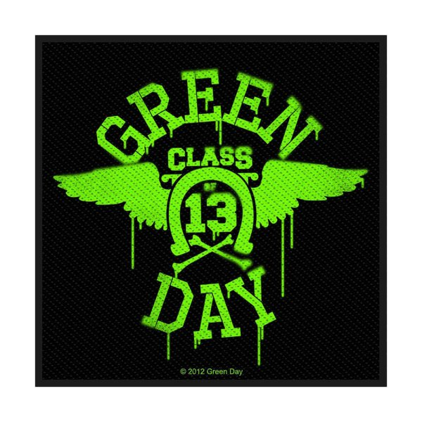 Green Day Neon Wings Standard Patch offiziell lizensierte Ware