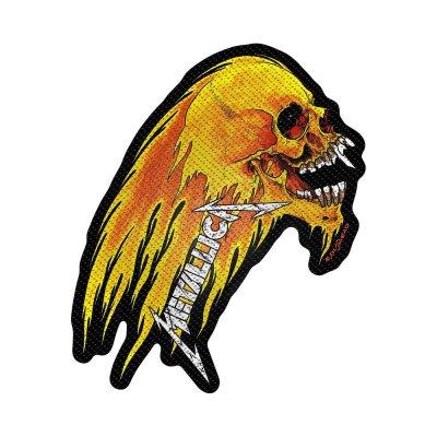 Metallica Flaming Skull Standard Patch offiziell...