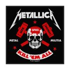 Metallica Metal Militia Standard Patch offiziell lizensierte Ware