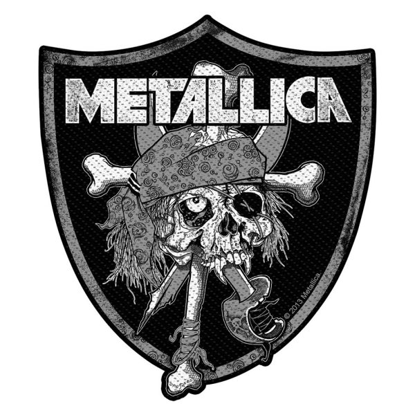 Metallica Raiders Skull Standard Patch offiziell lizensierte Ware