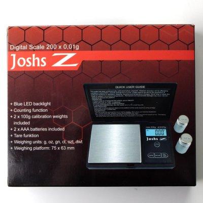 Joshs Z Feinwaage 200 g 0,01g 2 x AAA Baterien inklusiv...