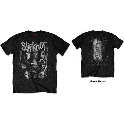 Slipknot T-Shirt Wanik White Splatter Schwarz