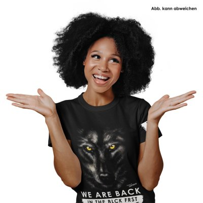 Blck Frst Wolf Girly mit Ärmellogo, Shirt