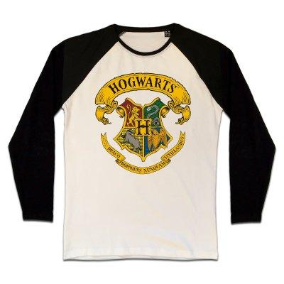 Harry Potter Hogwarts Crest Longsleeve Beige Schwarz