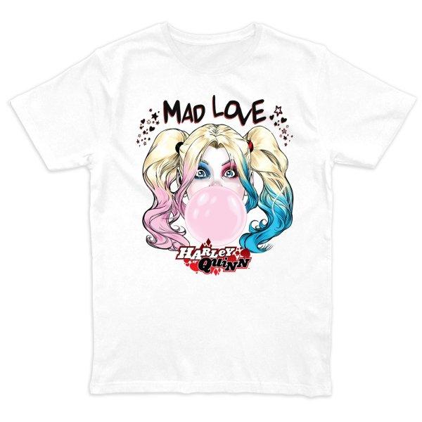 Harley Quinn Bubble Gum T-Shirt Weiss