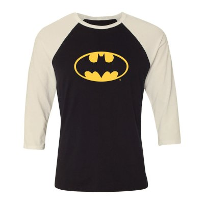 Batman Classic Logo Longsleve Beige Schwarz