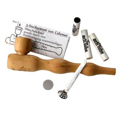 Calumet Holzpfeife mit Aktivkohlefilter aus Olivenholz