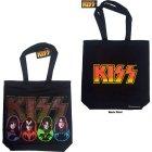 Kiss Faces & Logo Einkaufstasche mit Reißverschluss