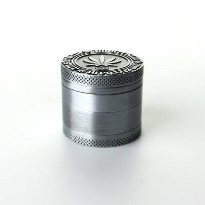 Grinder Silver Grey Ø: 40 mm, 4 Part mit Sieb und Schaber