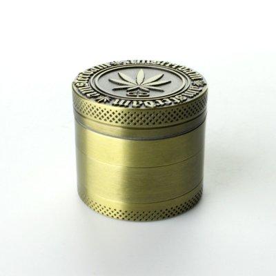 Grinder Golden Ø: 40 mm, 4 Part mit Sieb und Schaber