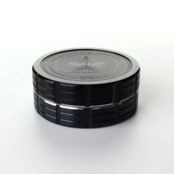 Grinder Schwarz Ø: 50 mm, 2 Part