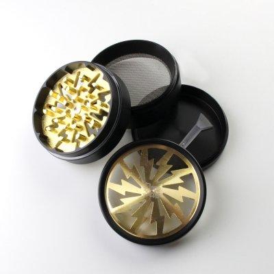 Grinder Gold Lightning Ø: 63 mm, 4 Part mit Sieb...
