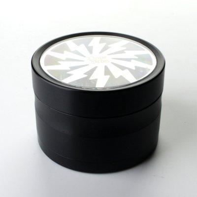 Grinder White Nickel Lightning Ø: 63 mm, 4 Part mit Sieb und Schaber