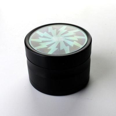 Grinder Grün Lightning Ø: 63 mm, 4 Part mit Sieb und Schaber