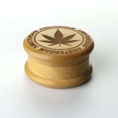 Grinder Wooden Leaf Ø: 50 mm, 2 Part
