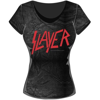 Slayer Top Classic Logo Schwarz Grau