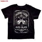 Johnny Cash Kinder T-Shirt Man In Black