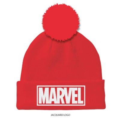 Marvel - Logo Rot Beanie Mütze