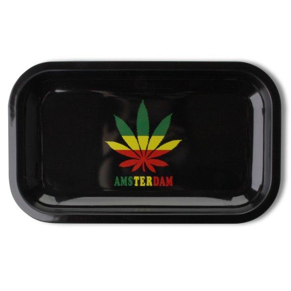 Rolling Tray Black Amsterdam 27 x 16 cm