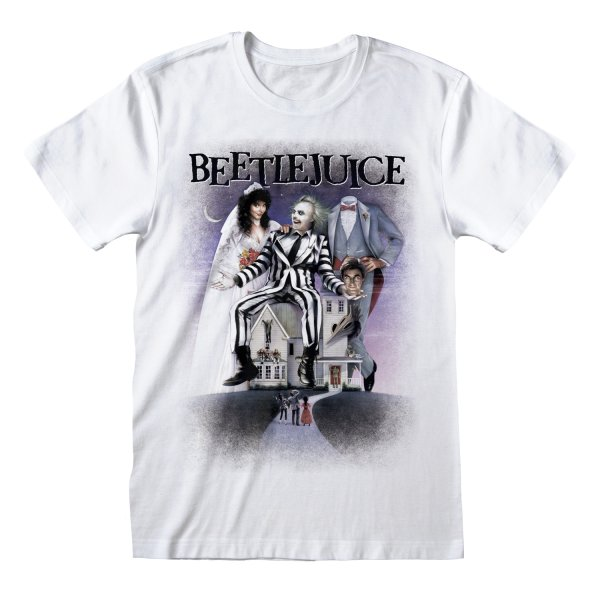 Beetlejuice Poster White  T-Shirt Weiss
