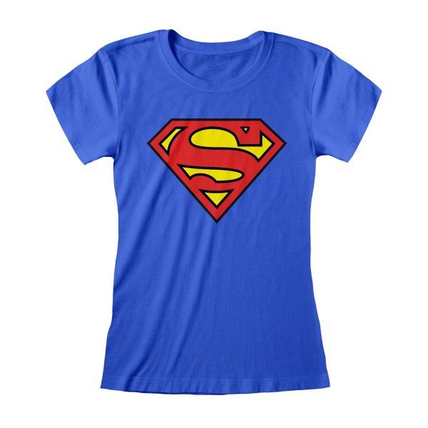 DC Superman Top Logo Blau
