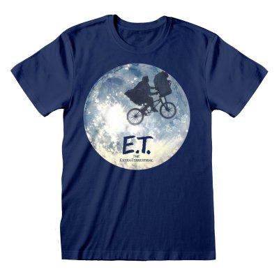 E.T. T-Shirt Moon Ride Silhouette Blau