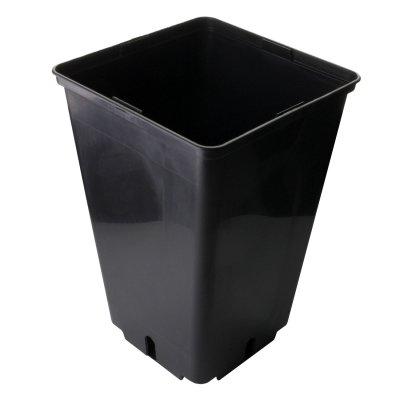 Topf viereckig 4L, 16 x 16 x 23,5 cm, schwarz