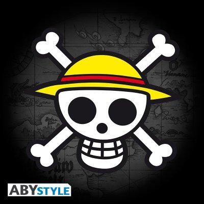 One Piece Tshirt Skull with map Schwarz
