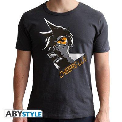 Overwatch Tracer T-Shirt Dunkel Grau