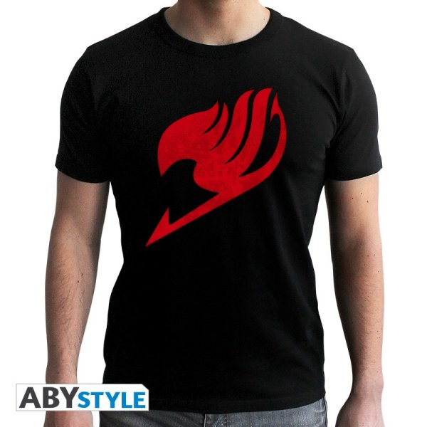 Fairy Tail Emblem T-Shirt Schwarz