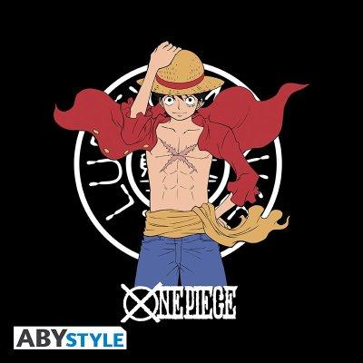 One Piece Luffy New World T-Shirt Schwarz