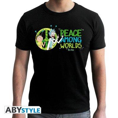 Rick and Morty Peace Among Worlds T-Shirt Schwarz
